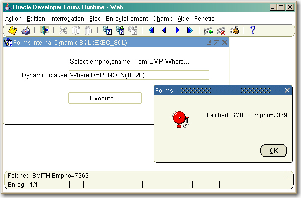Forms EXEC_SQL