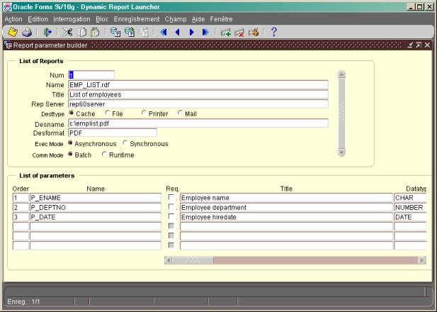 Oracle Forms – Javabean