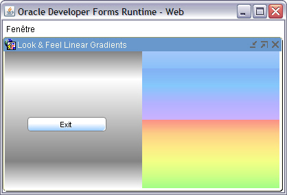 Oracle Forms Look and Feel project