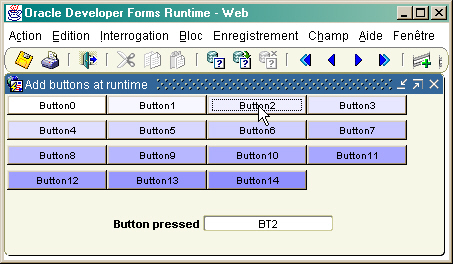 Add GUI component at run time