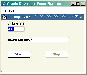 Blinking textfield