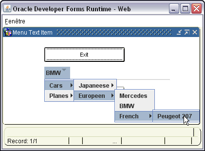 Text Filed Menu