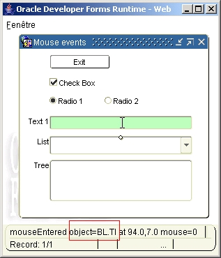 Mouse events part II