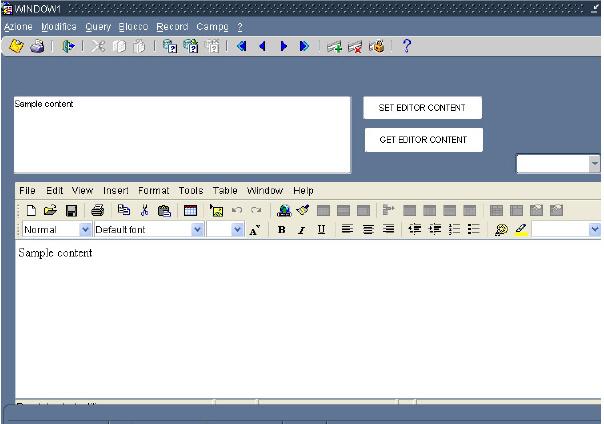 Forms Html Editor Bean