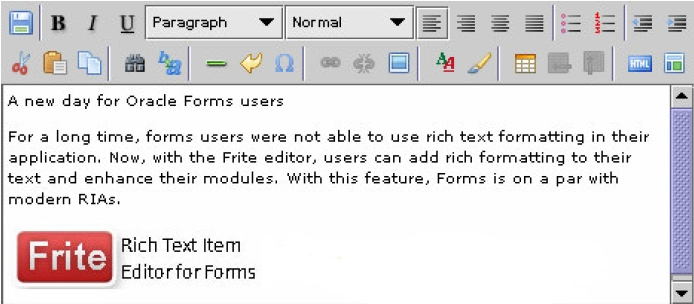 Forms Rich Text Editor Java Bean - Oracle Forms PJCs/Java Beans