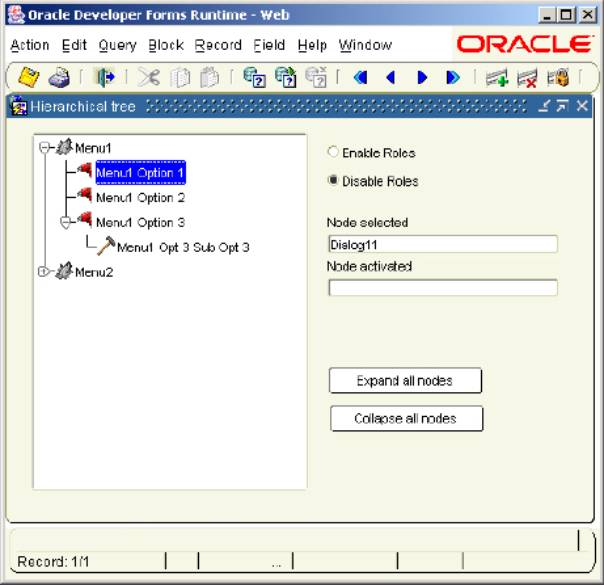 oracle samples form