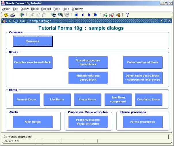 Oracle Forms 10g : Demos, Tips and Techniques